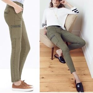 Madewell Skinny Fatigue Jeans Green